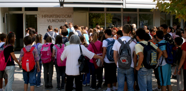 Arrival on the Educational morning in Vukovar in 2011