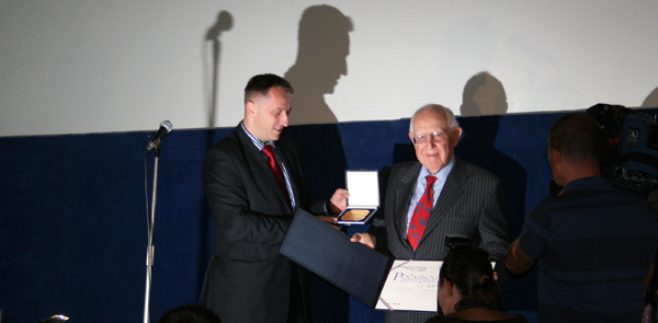 Branko Lustig awarded the title of the Honorary Citizen of the City of Osijek in 2010