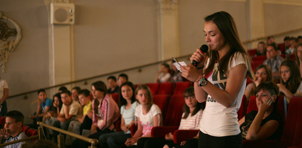 Pupils talks about the tolerance on the program in Zagreb in 2011
