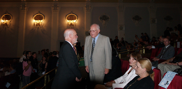 Ambassador of the State of Israel Shmuel Meirom with Branko Lustig on the 2nd JFF