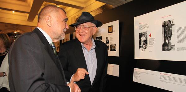 President of the Republic of Croatia Stjepan Mesić and Branko Lustig
