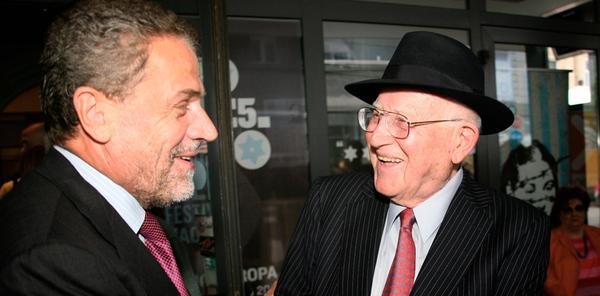 Gradonačelnik Milan Bandić i Branko Lustig