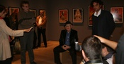 Branko Lustig at the Opening Ceremony of the Anti-Masonic exhibition at the Gallery 11/07/95